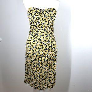 Vtg Diane Von Furstenger 100% Silk Floral Dress 6